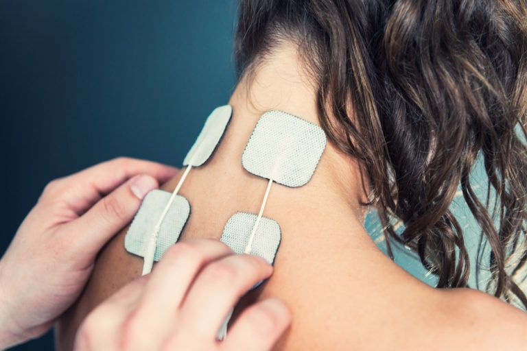 TENS electro stimulation treatment